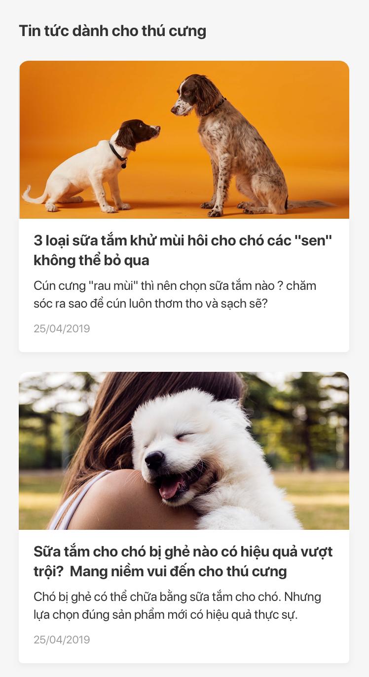 ứng dụng dành riêng cho thú cưng MyPet