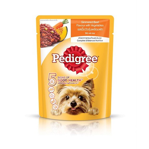 Thức ăn ướt pate sốt gói vị gà Pedigree
